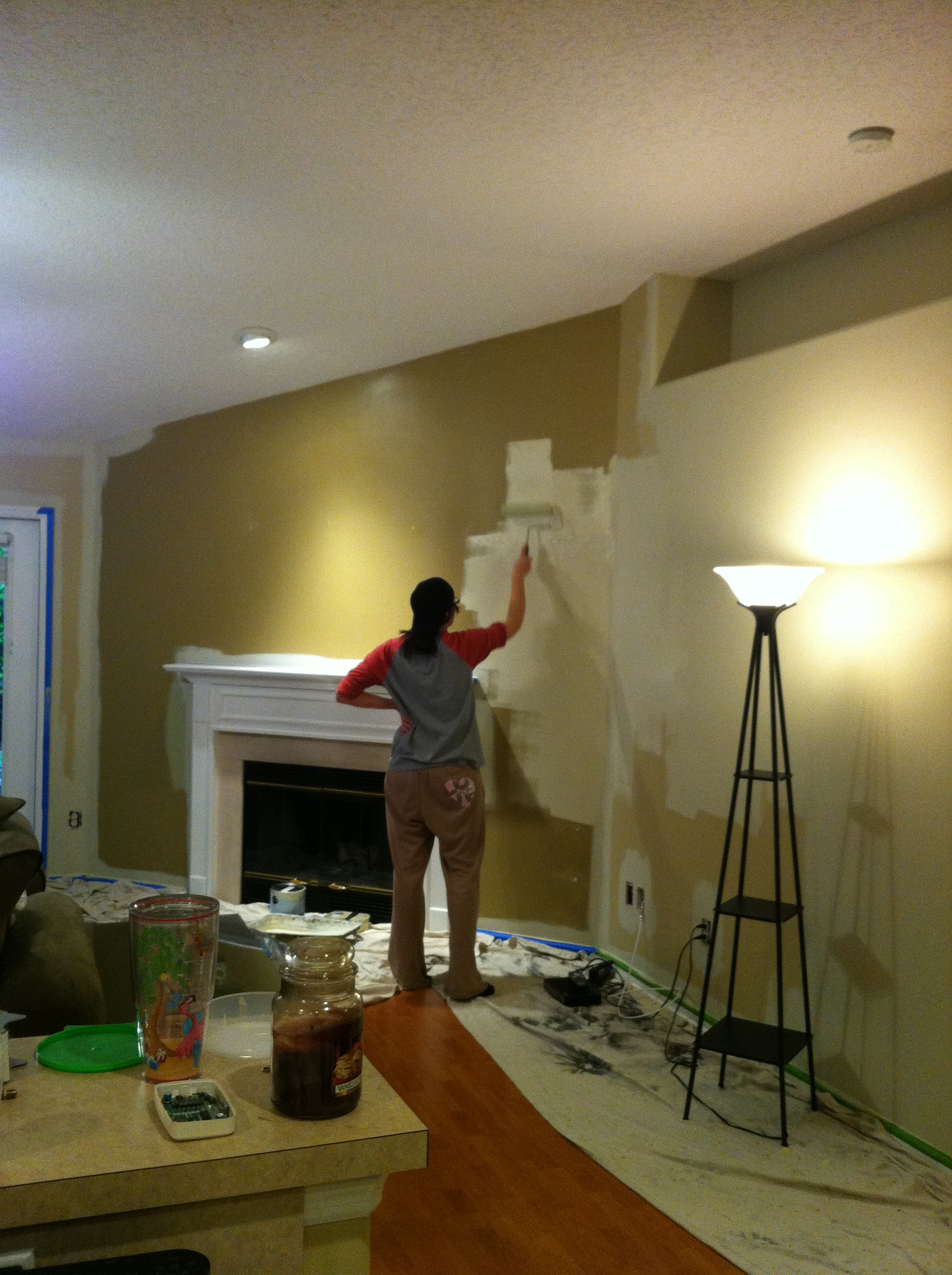 Painting the living room and kitchen | The Mace Place