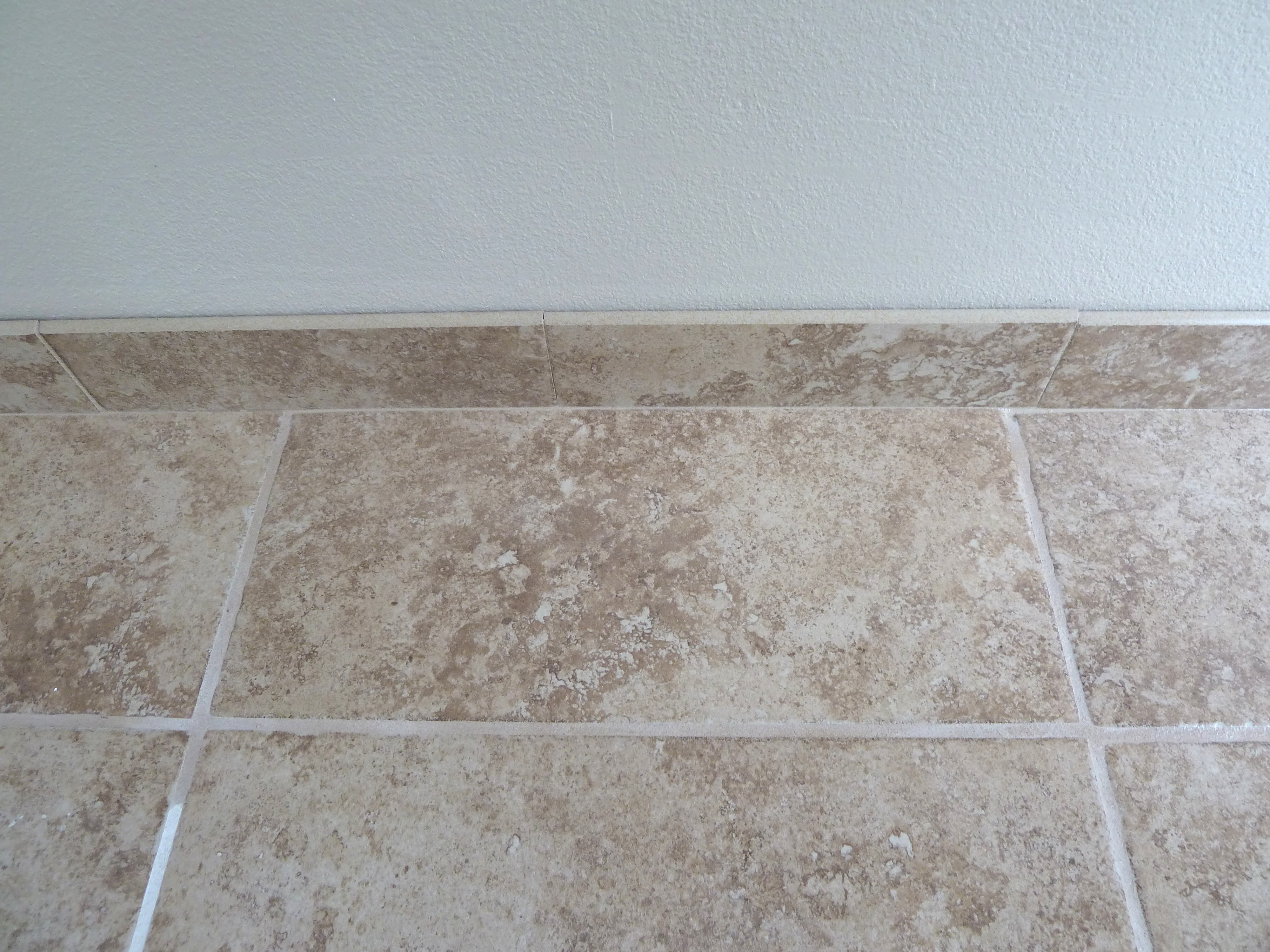 installing tile trim | The Mace Place
