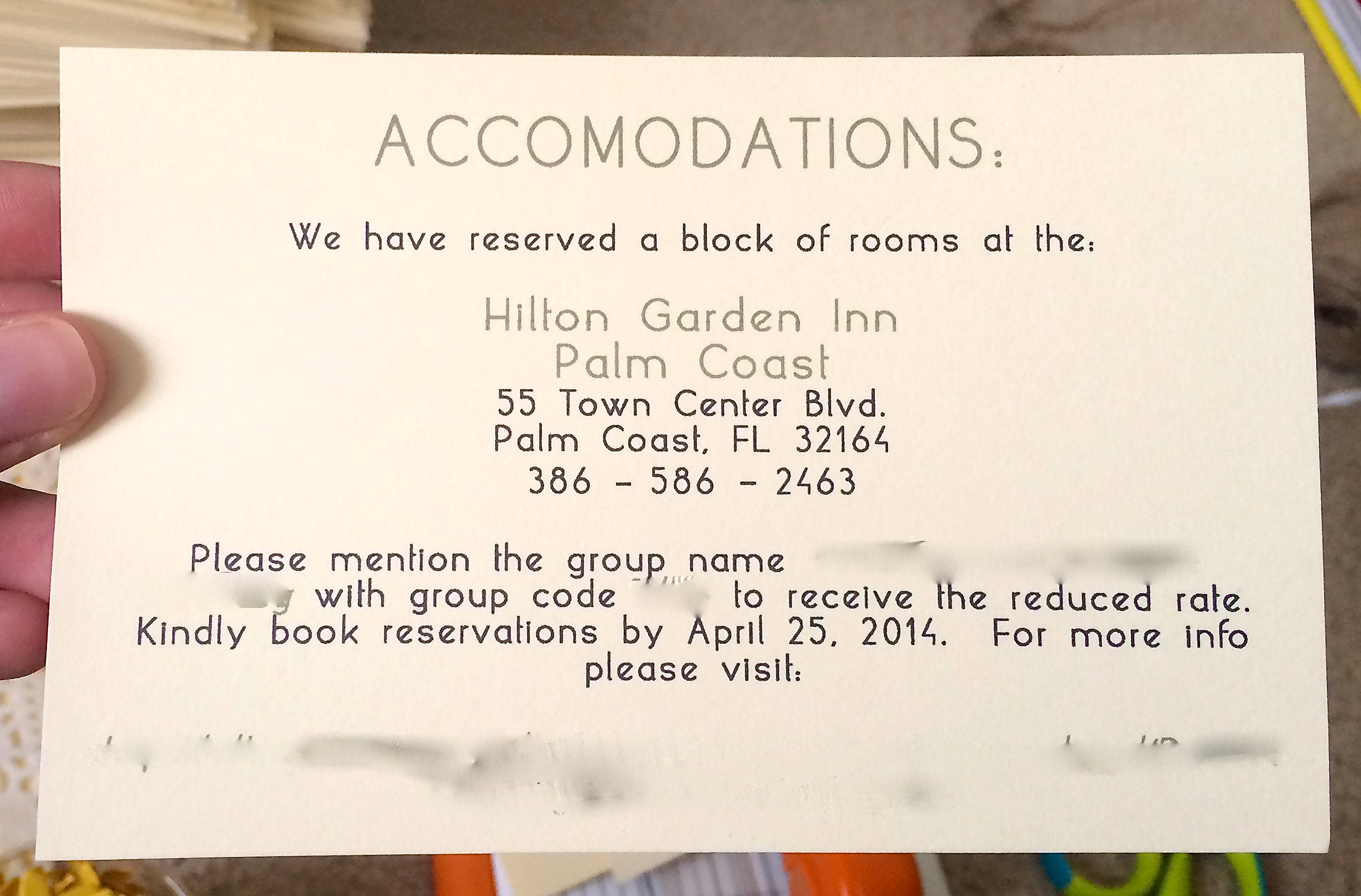 hotel accommodations for wedding guests template