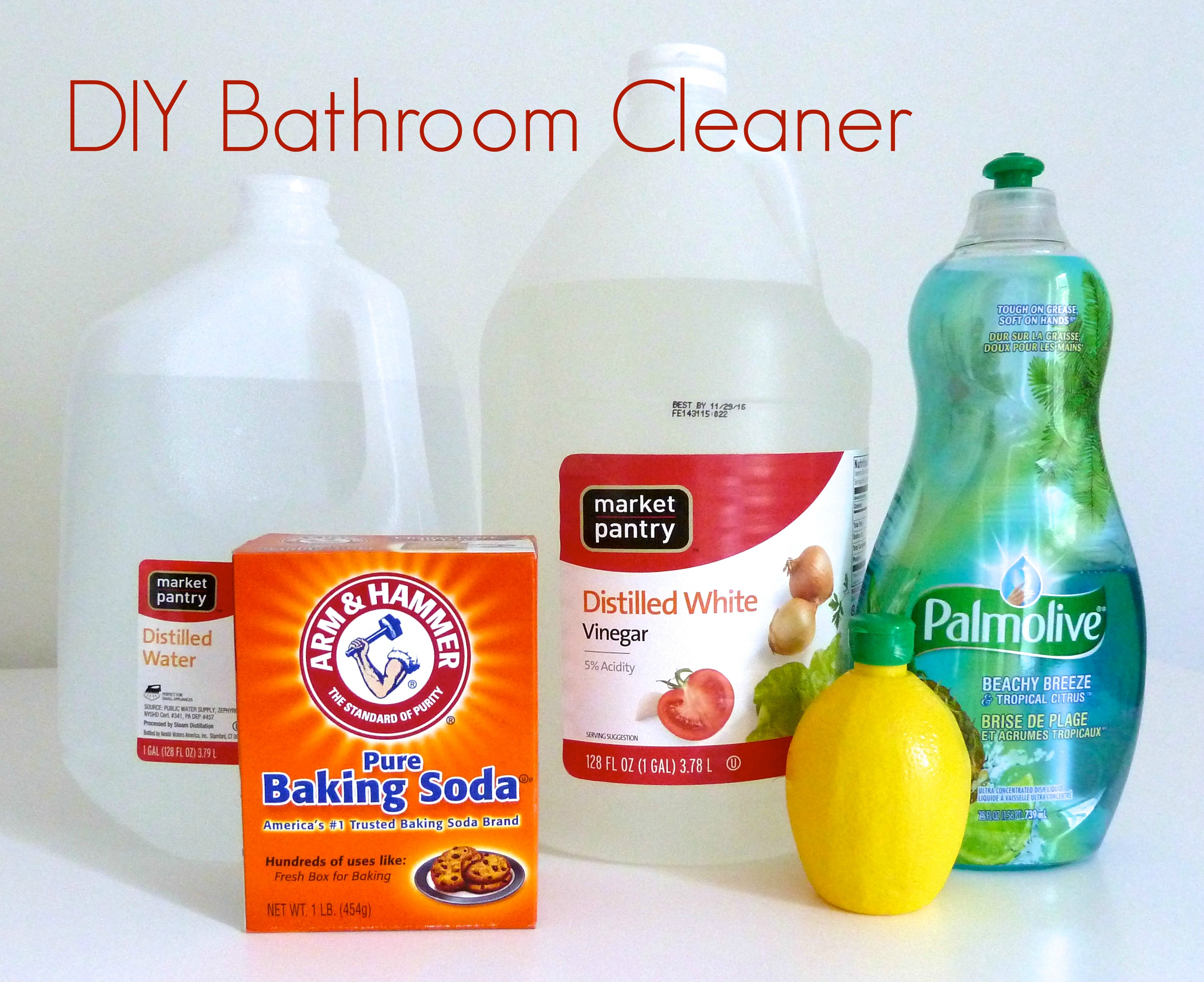 spray bottle homemade bathroom cleaner - Homemade Bathroom Cleaner